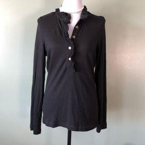 Tory Burch black blouse worn once size medium